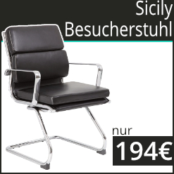 Sicily Leather Faced Visitor / Boardroom Chairs