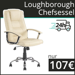 Loughborough Chefsessel mit Lederbezug