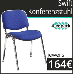 Swift Chrom gerahmte Konferenzstühle   4 er pack