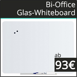 Bi Office Magnetic Glass Memo Boards